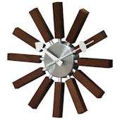 George Nelson(ジョージ・ネルソン) 掛け時計 Inspired Wooden Spoke Clock Walnut